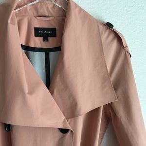 MACKAGE pink coral peach lightweight trench coat